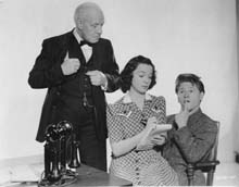 Publicity Photo with Lewis Stone & Mickey Rooney