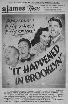 Newspaper ad for It Happened in Brooklyn