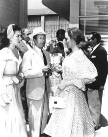 Cole Porter visiting the set with Ann Miller and Kathryn