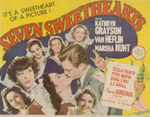 Seven Sweethearts lobby card (title card)