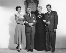 Publicity Photo with Jose Iturbi, Ethel Barrymore and Mario Lanza