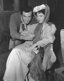 On the set with Mario Lanza
