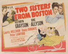 Two Sisters From Boston lobby card (title card)