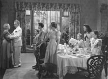 Dining Room scene with family